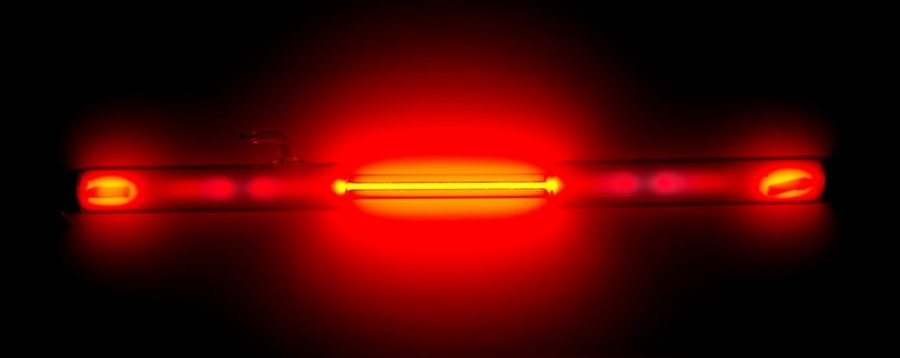 Neon gas discharge tube